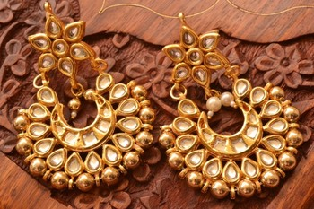 Kundan polki embellished earrings