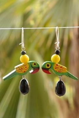 Pretty love birds earrings