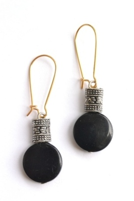 Trendy embellished earrings