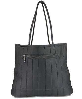 Womens Cottage Black Cotton Border Patch Work Bag