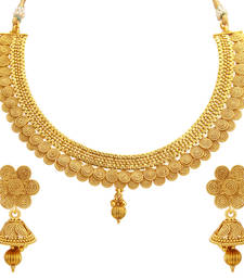 Buy Fabulous Jalebi Gold Plated Necklace Set For Women necklace-set online