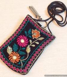 Buy Multi colored flower mobile cover potli-bag online