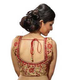 Golden shimmer silk stitched readymade blouse