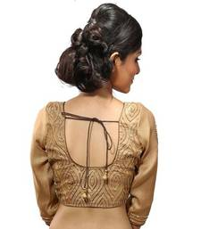 Golden  stitched readymade blouse
