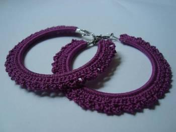 Purple Gypsy Hoops