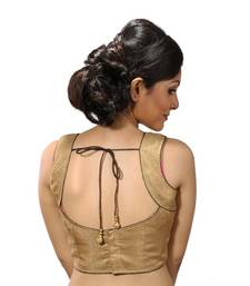 Golden dupion silk stitched readymade blouse