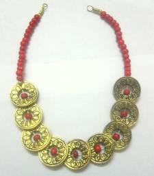 Buy Orange beaded jewellery coral necklaces Necklace online