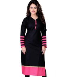 Buy Pink cotton plain kurti kurtis-below-400 online