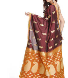 Buy Keri Buttis Maroon Art Silk Saree With Contrast Pallu silk-saree online