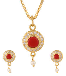 Buy Orange pendant set Pendant online