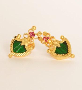 Green Pal Stud Earrings