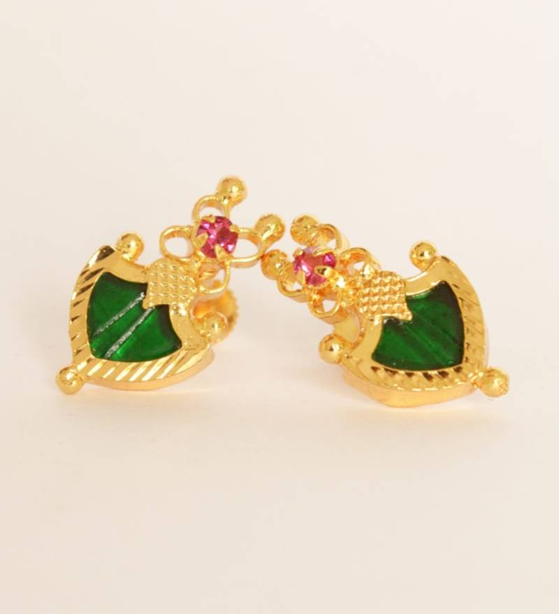 Green Pal Stud Earrings