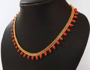 Orange Beaded Necklace