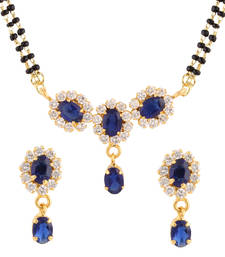 Buy Blue gold plated mangalsutra set mangalsutra online
