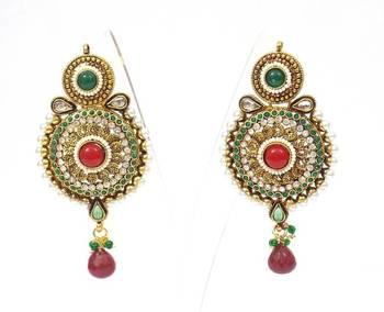 Ethnic polki long earring