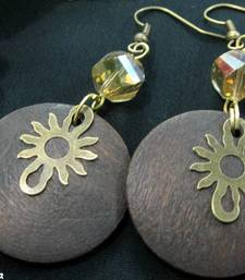 Wooden_Round_Brass_Sun_Earrings shop online