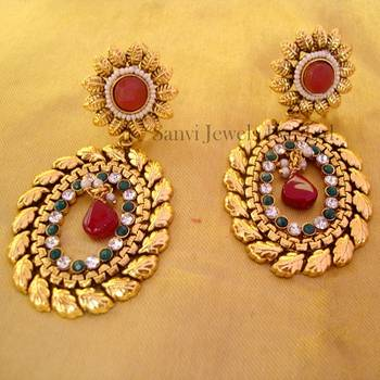 Multicolour Polki Earring