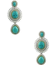 Buy Turquoise Blue Antique Victorian Dangle Earrings Jewellery for Women - Orniza danglers-drop online
