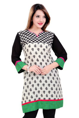 Off Whte Kurti Cotton