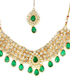 Buy Multicolor  kundan Diamond necklace sets necklace-set online