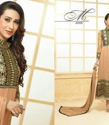 Buy Karishma Kapoor Beigh Black Anarkali salwars-and-churidar online