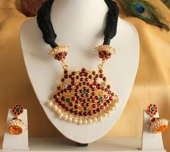 Royal Antique Handmade Black Necklace Set