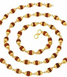 The jewelbox gold plated rudraksh mala chain