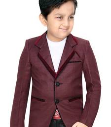 Buy Red jacket suits for kids boys-indo-western-dress online