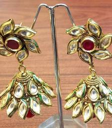 Buy Celebrity royal collection kundan pearl jhumki earring gifts-for-her online