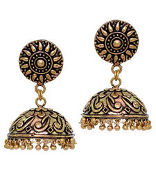 Indian Bollywood Oxidized Gold Plated Jhumka