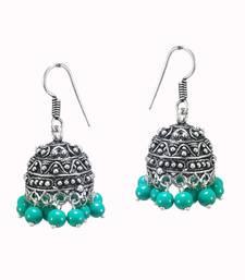 Buy Turiques Beads Traditional Oxidized Jhumka jhumka online