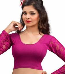 Magenta cotton lycra strechable stitched blouse