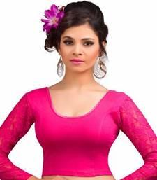 Buy Pink cotton lycra strechable stitched blouse fashion-deal online