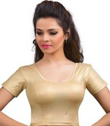 Buy golden shimmer strechable stitched blouse great-indian-saree-festival online