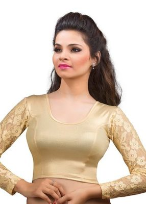 Golden Shimmer Strechable Stitched Blouse
