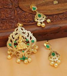 Buy Beautiful Temple pendant set south-indian-jewellery online