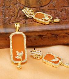 Buy Gorgeous Designer  Stone Pendant set south-indian-jewellery online