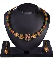 Buy The colourful sphere necklace-set online