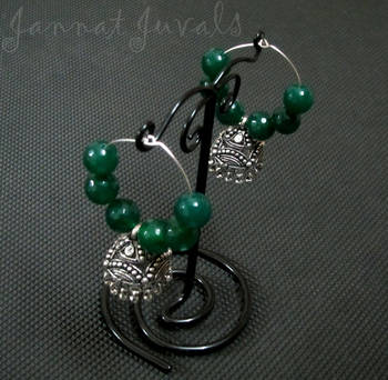 Green Onyx Jhumka