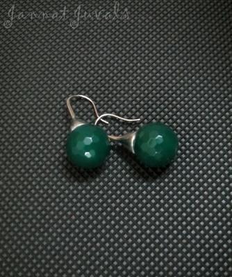 Cute Green Onyx Earrings