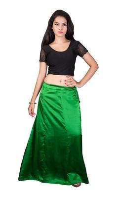 Green satin  petticoat