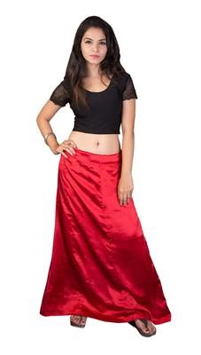 Red Satin  Petticoat