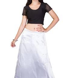 Buy White satin  petticoat petticoat online