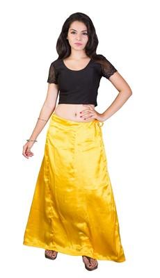 Yellow satin  petticoat