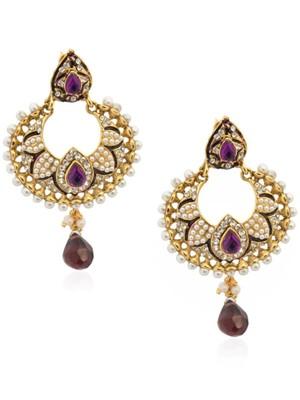 Glorious Pearl Petal Lavender Earrings