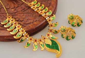 Mesmerising Handmade Green Mango Necklace Set