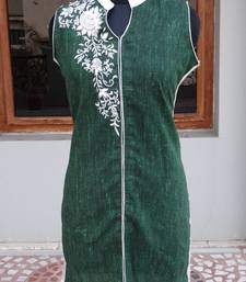 Buy Dark green color kurti kurtas-and-kurti online