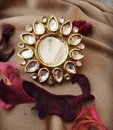 Adjustable Kundan Ring