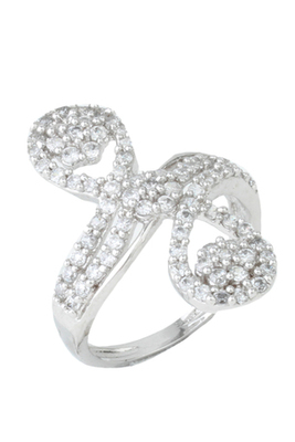 785ca4671b58b Happiness collection sparkling silver party wear ring for women