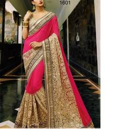 Buy baby pink embroidered georgette saree With Blouse bridal-saree online